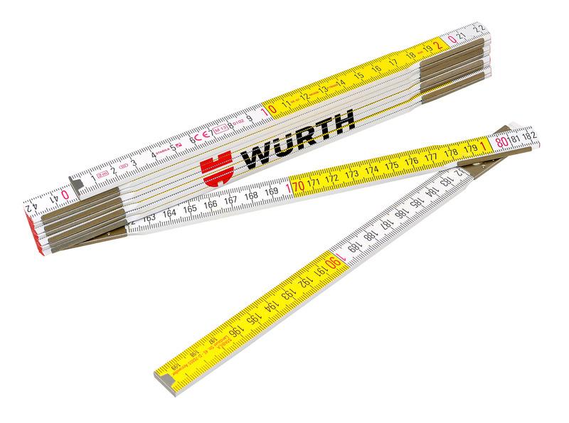 Metrówka składana z drewna bukowego  - MIARKA SKLADANA 2 M DREWNIANA
