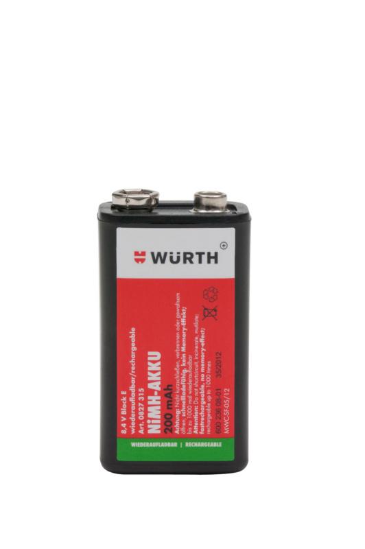 Batterie nimh pr charg e 0827315 - Pile 9v rechargeable ...