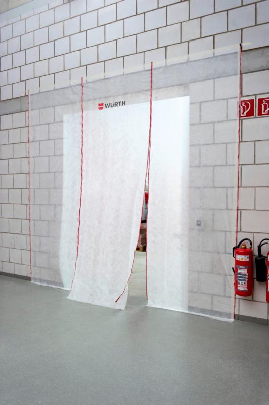 Parede proteção antipó - PAREDE PROTECCAO DE POEIRAS