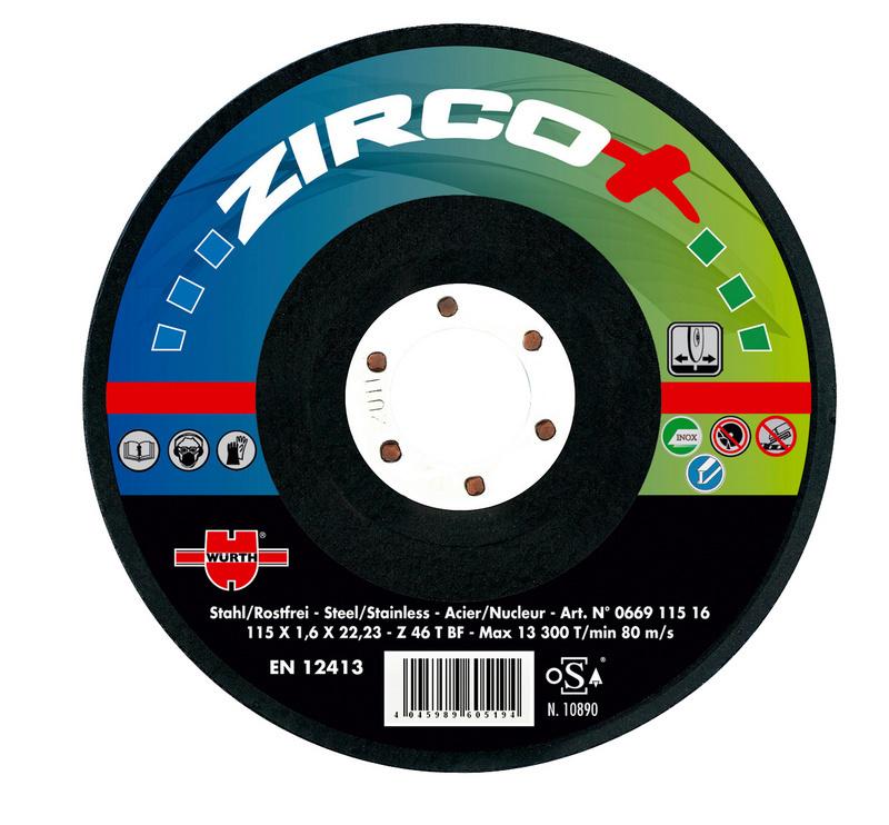 disque meuler zirco plus 0669125064 w rth. Black Bedroom Furniture Sets. Home Design Ideas