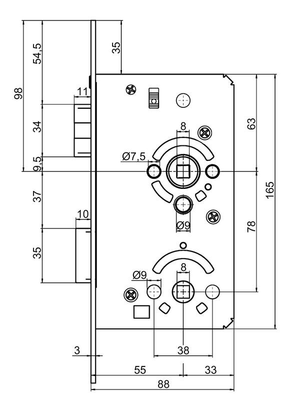 serrure encastr e pour porte de wc salle de bain 0688503825. Black Bedroom Furniture Sets. Home Design Ideas