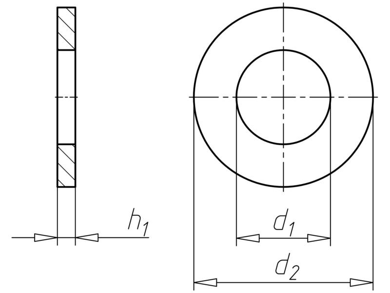 Shim ring - RG-SHIM-DIN988-25X35X1,0