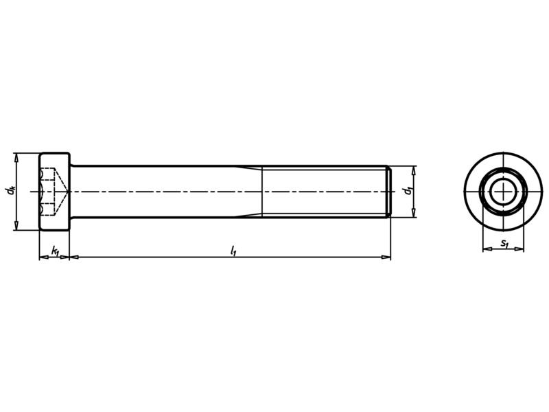 Zylinderschraube mit Innensechskant und niedrigem Kopf - SHR-ZYL-DIN7984-08.8-IS8-M12X40