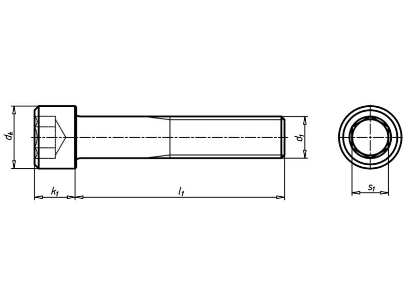 Vis cylindrique à six pans mâle - VIS-ISO4762-A4/70-2,5-M3X8