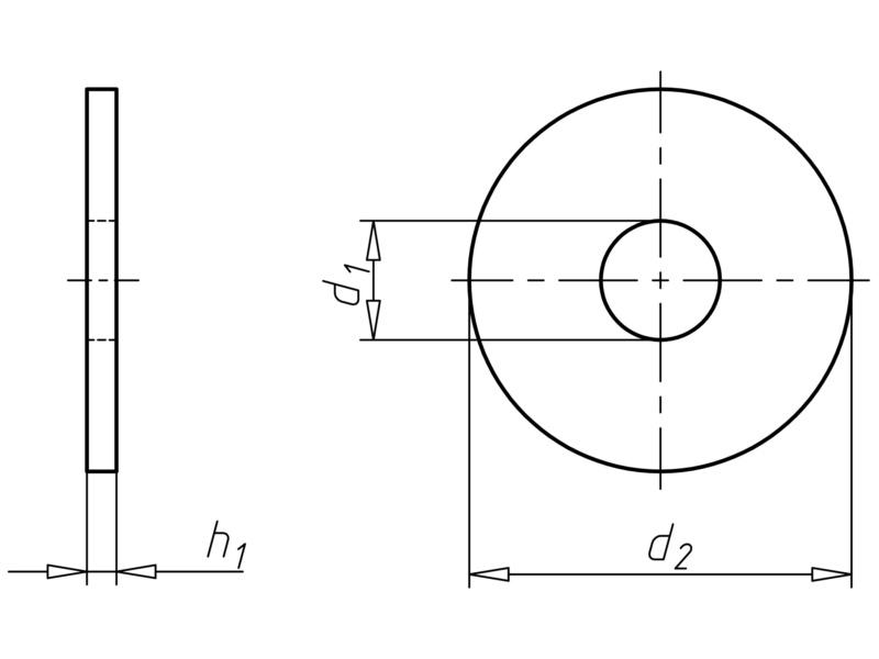 Alátét, M alak - WSH-NFE25513-(A2K)-M-46X85X7