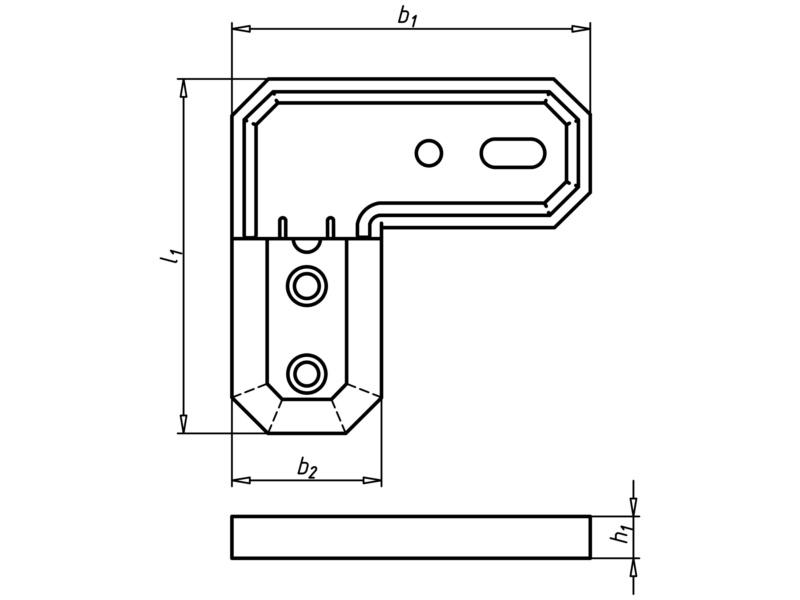 Terrasverbinder, beugel - TERRAS VERBINDER ALU-60X60X7