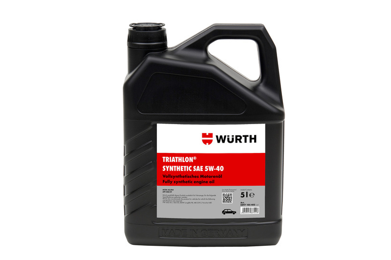 Engine oil triathlon synthetic 5w 40 w rth Motor oil shelf life