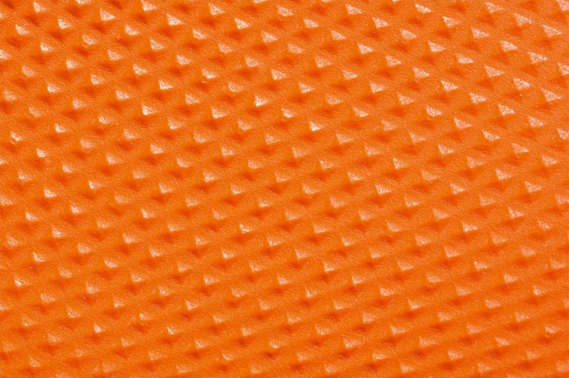 Luva laranja com pega descartável de nitrilo - 2