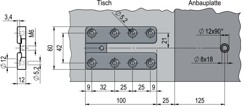 tischverl ngerung eat 500. Black Bedroom Furniture Sets. Home Design Ideas
