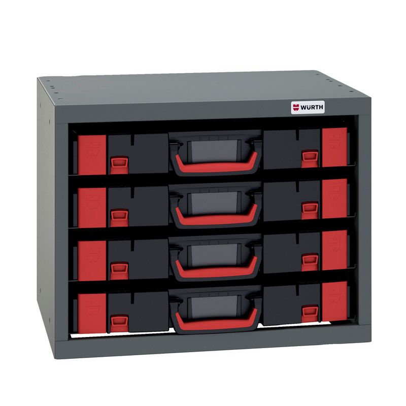 Cassettiera per valigette con supporti w for Case modulari strette