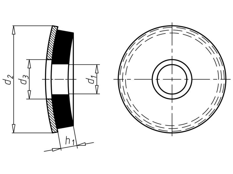 Dichtscheibe mit Metallrücken - SHB-EPDM2-A2-D16MM-F.SHR6,3-6,5