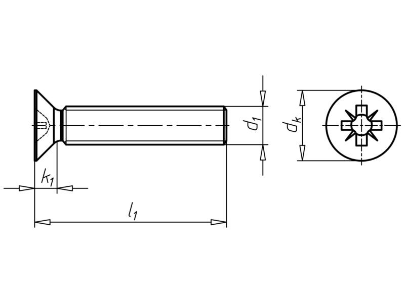 Senkschraube mit Kreuzschlitz Z - SHR-SEKPF-DIN965-A2-Z2-M5X50