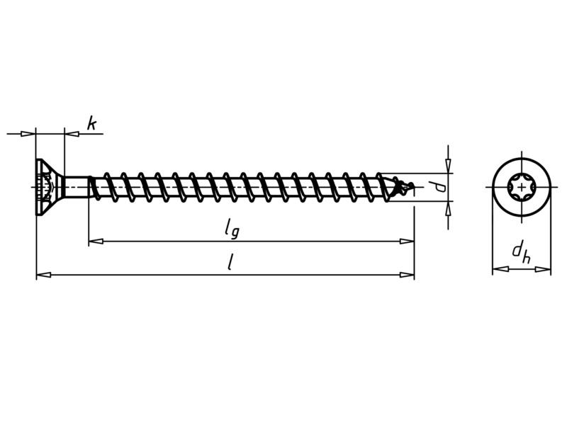 ASSY<SUP>®</SUP> 3.0 A2 Faforgácslapcsavar - ASSY SÜLY.FEJ CSAV. A2-4,5X40/33