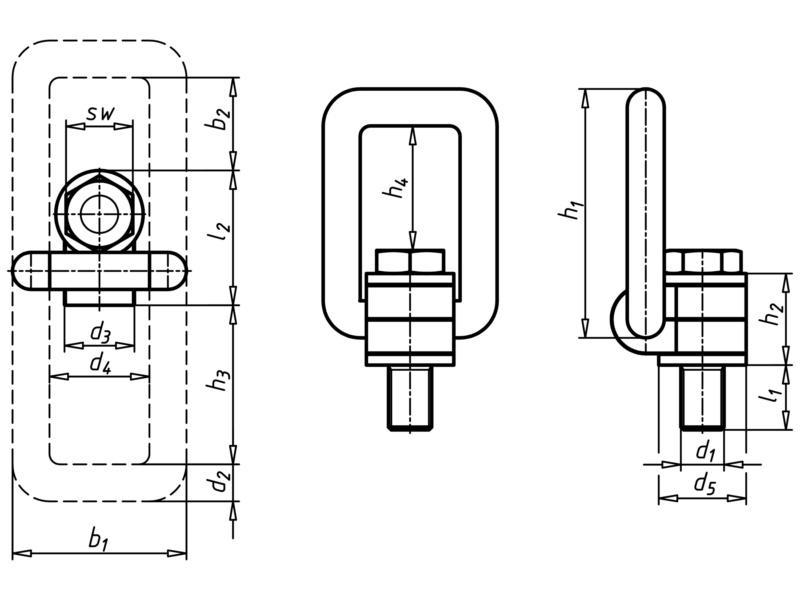 lastbock 360 grad drehbar unverlierbare schraube. Black Bedroom Furniture Sets. Home Design Ideas