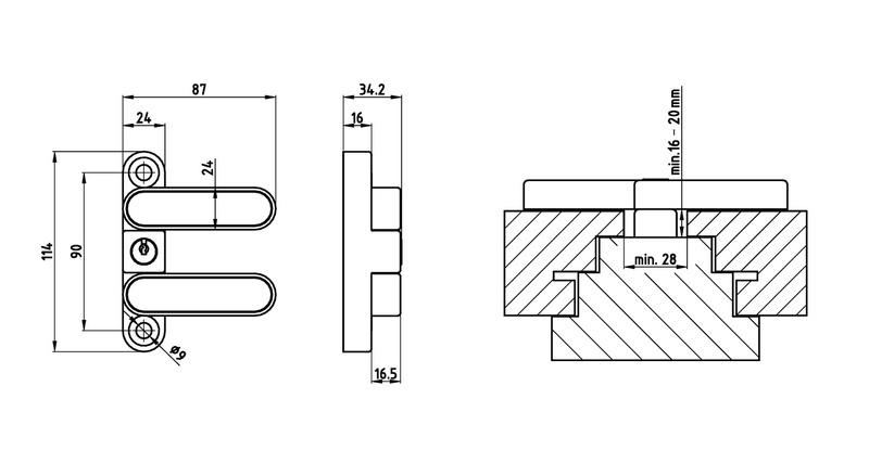 Fenster und t rsicherung winsafe wd3 0688907110 w rth for Fenster schnelle lieferung