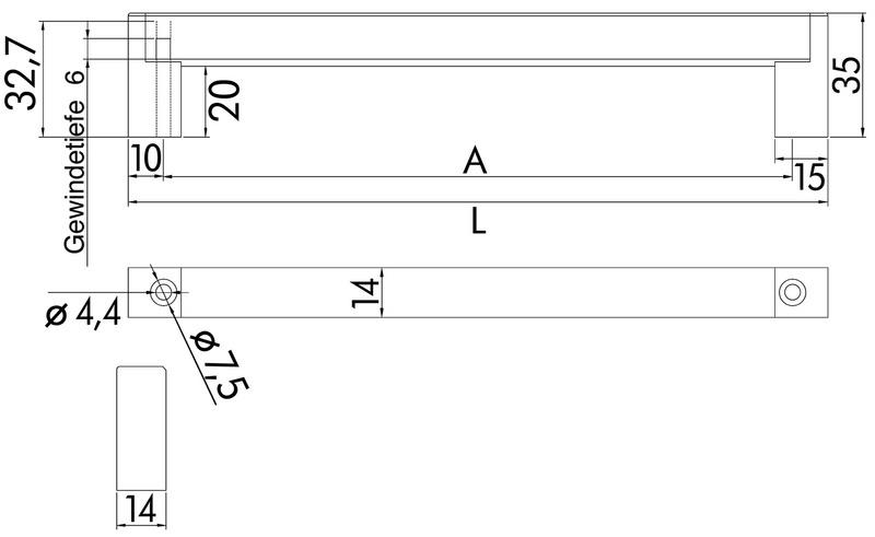 Maniglia per mobili di design 0685215291 for Outlet di mobili di design pittsburgh