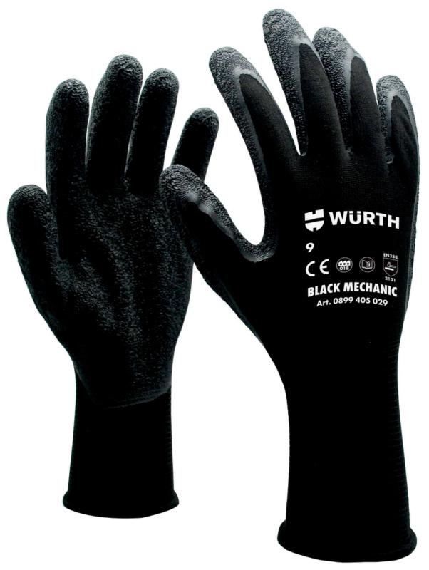 防护手套 技工用,黑色 - 1