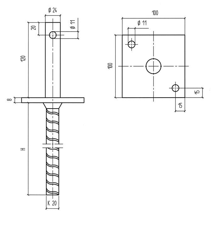 pfostentr ger bd d tzn 0681491040 w rth. Black Bedroom Furniture Sets. Home Design Ideas