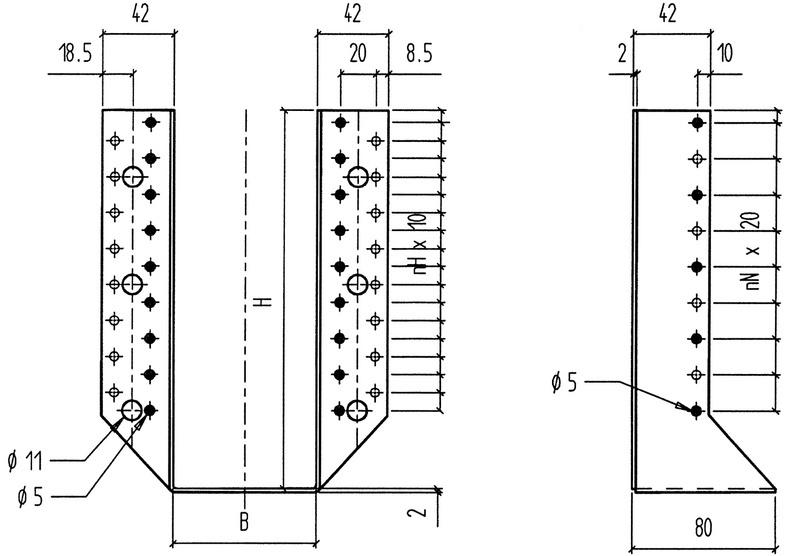 sabot de charpente ailes ext rieures epaisseur 2 mm. Black Bedroom Furniture Sets. Home Design Ideas