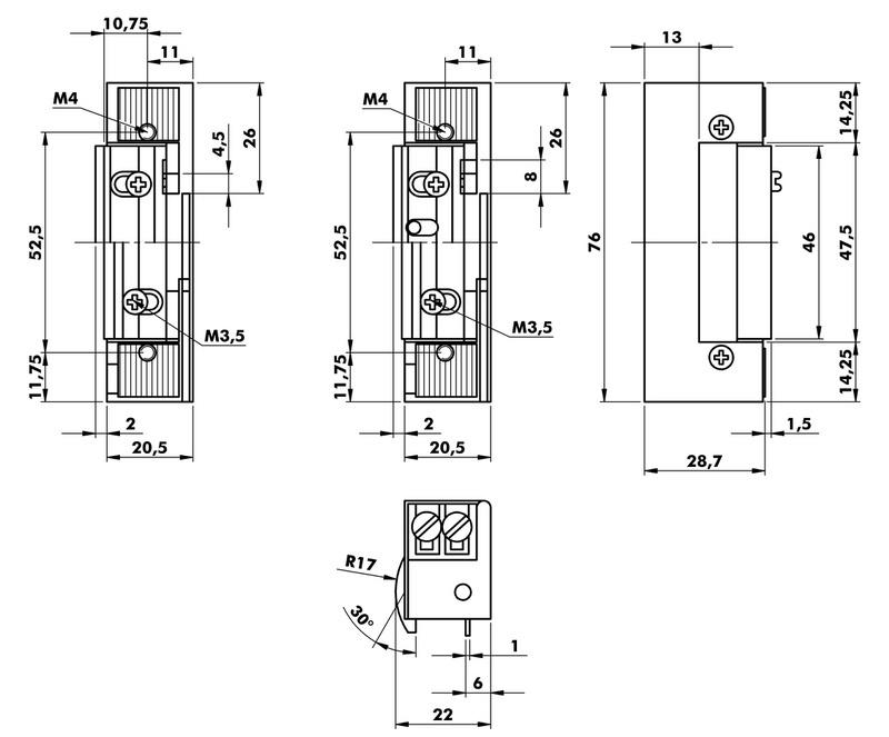 elektrischer t r ffner typ r 0688505730 w rth. Black Bedroom Furniture Sets. Home Design Ideas