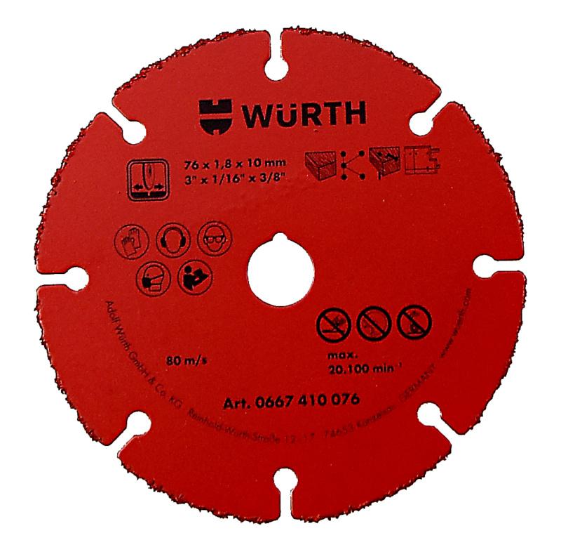 Disco da taglio, con punta in metallo duro - DISCO-TAGLIO-HM-1,8-FORO 10,0-D.76MM