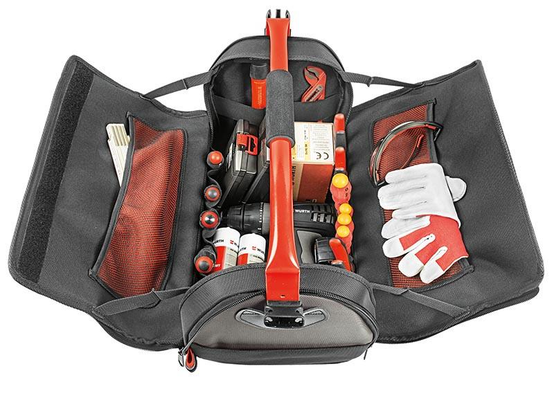 Sac à outils avec côtés repliables - CAISSE A OUTILS LARGE OUVERTURE