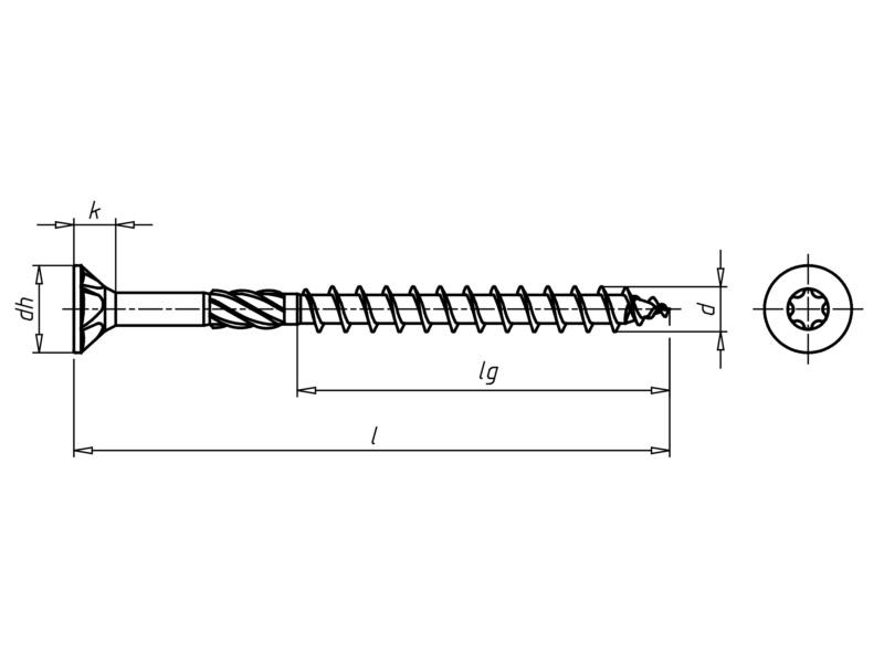 ASSY<SUP>®</SUP> 3.0 cink-nikkel Faforgácslap csavar - ASSY3.0-CSAV-FA-AW40-(P2E)-8X140/80