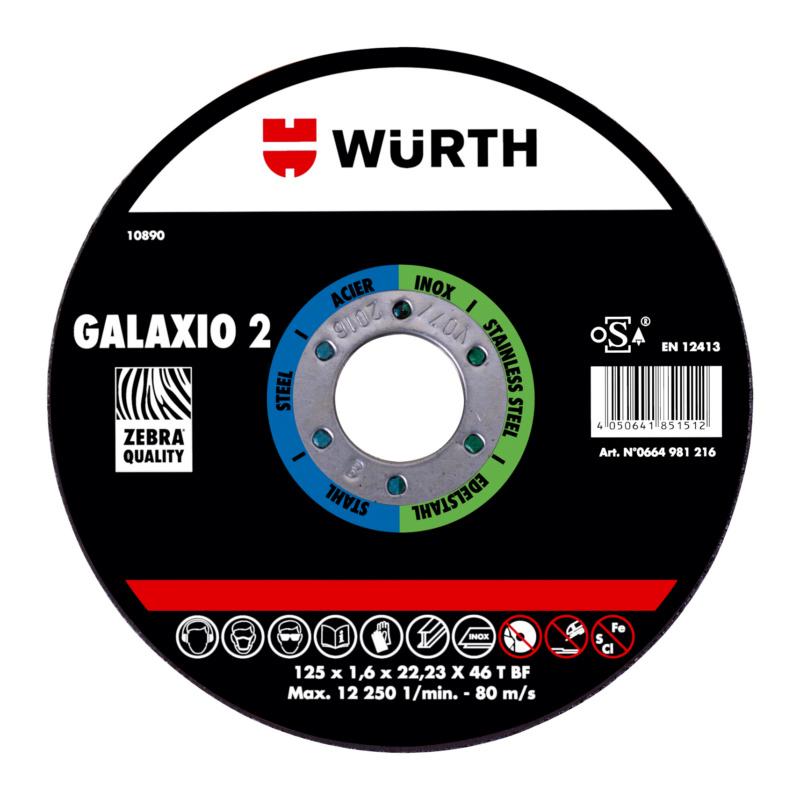 Disque à tronçonner ZEBRA GALAXIO 2 - 1