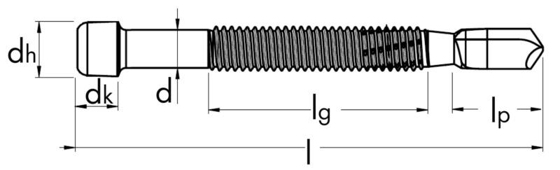 Spinotto autoforante ad avvitamento BSD - SPINOTTO-BSD-TC-FP-AW40-(RSI)-6,9X113