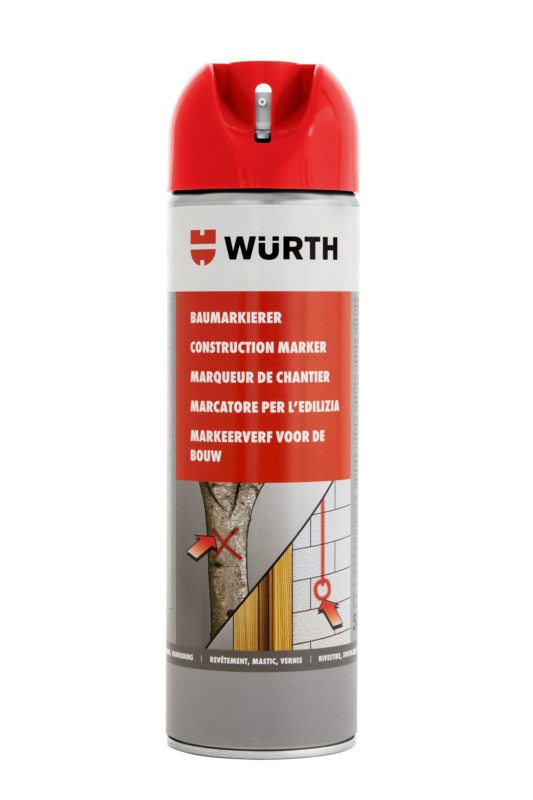 Marker budowlany - BUILDMRK-RED-500ML