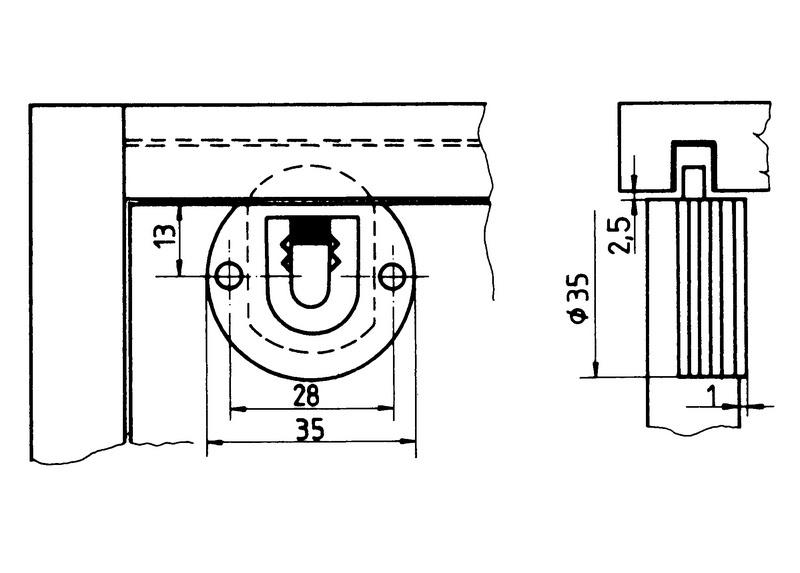 Perni Di Guida Per Guarniture Porte Scorrevoli Sb 20 E