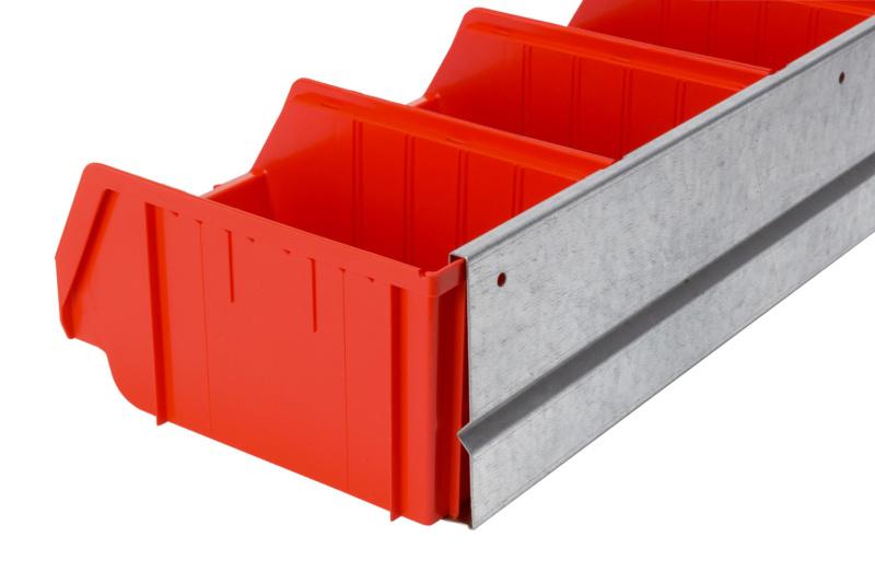 sichtlagerboxen set mit wandschiene 096071 w rth. Black Bedroom Furniture Sets. Home Design Ideas
