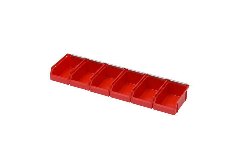 sichtlagerboxen set mit wandschiene 096091 w rth. Black Bedroom Furniture Sets. Home Design Ideas