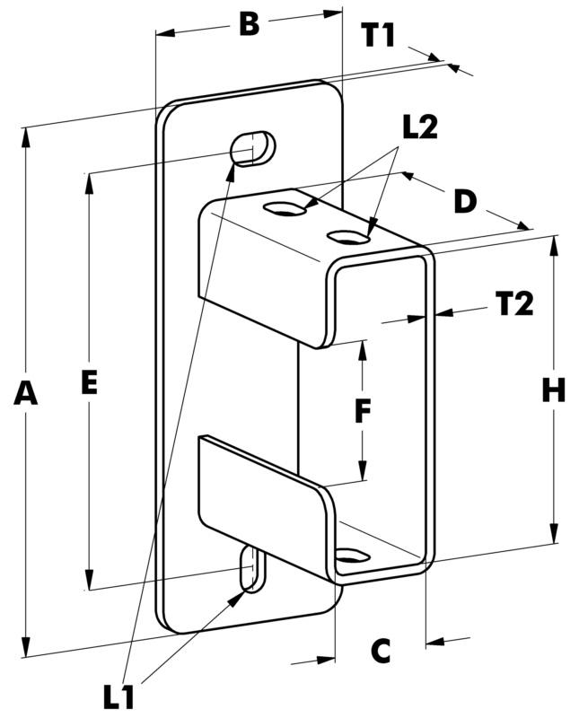 varifix profilfu c schiene 41 124 stahl feuerverz w rth. Black Bedroom Furniture Sets. Home Design Ideas
