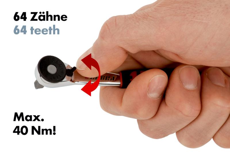 Assortiment multidopsleutels 1/4 inch, mini Mini - MULTIDOPPENSET MINI 1/4 23-DLG