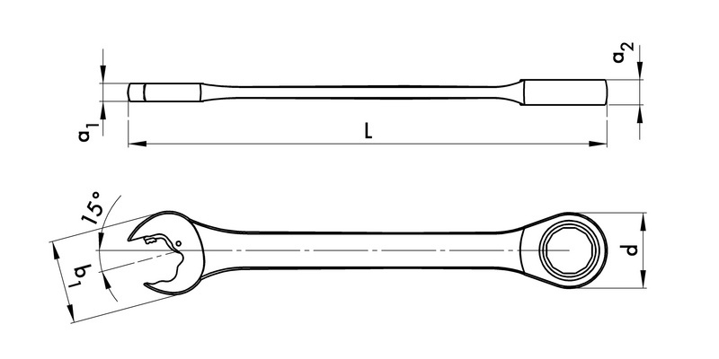 棘轮组合扳手 - 棘轮扳手-RTCHCOMBISPN-L159MM-WS10