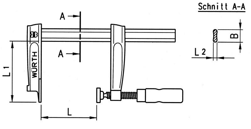 Pevná oceľová skrutkovacia zvierka srukoväťou vtvare T - 2