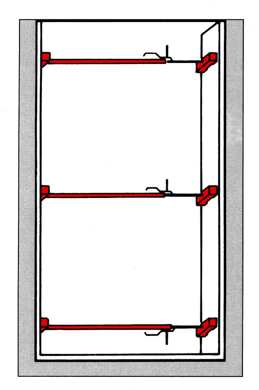Grampo para ombreiras de porta - SUPORTE UNIVERSAL 65-110 CM