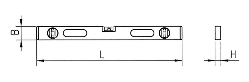 Wasserwaage digital - WAWAAGE-EL-DIGITAL-IP66-L61CM