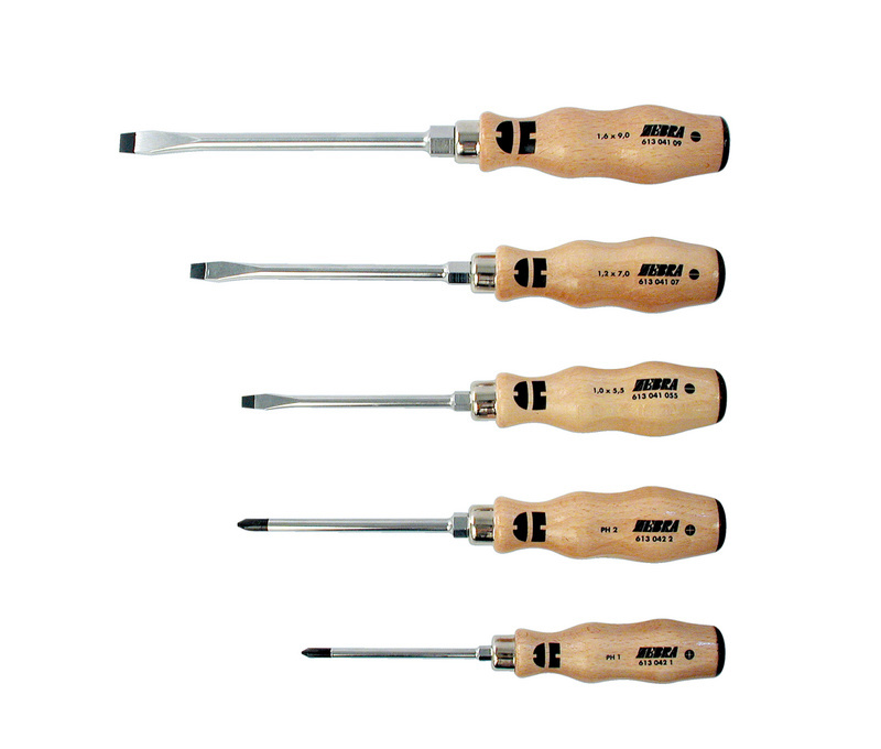 screwdriver set wooden handle ph slotted 5 pcs w rth. Black Bedroom Furniture Sets. Home Design Ideas