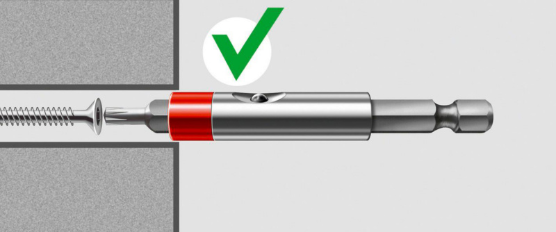 "Portabussole da 1/4"", magnetico - PORTAINS-MAGN-ONE-TOUCH -1/4-L150MM"