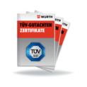 Icon TÜV Gutachten/Zertifikate