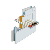 Fire protection, cable bulkhead