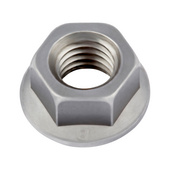 Hexagon nuts, flanged