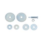 Mandrino serraggio disco abrasivo nylon