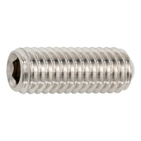 Hexagon socket set screw with ring cutter