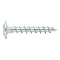Chipboard screw, washer head