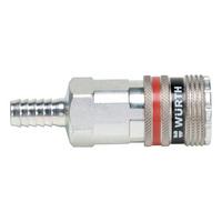 Druckluft Sicherheitskupplung wSafe<SUP>®</SUP> 4000 mit Schlauchanschluss