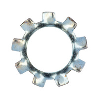 Serrated washer, externally serrated, type A