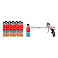 1K-Pistolenschaum und PUR-Reiniger Set 26-teilig